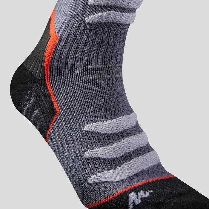 Chaussettes chaudes de randonnée adulte SH920 x-warm mid grises rouge X 2 paires