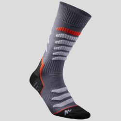 Adult Snow Hiking Socks X-Warm Mid SH920 - Grey Red.