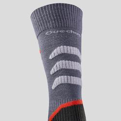 Warme wandelsokken volwassenen SH920 X-Warm mid grijs/rood 2 paar