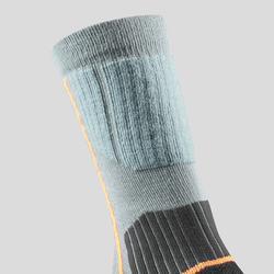 Warme wandelsokken kinderen SH520 X-Warm blauw/grijs