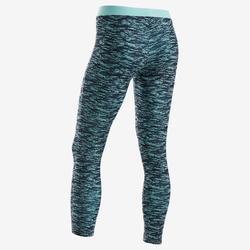 Legging coton respirant 500 fille GYM ENFANT bleu AOP
