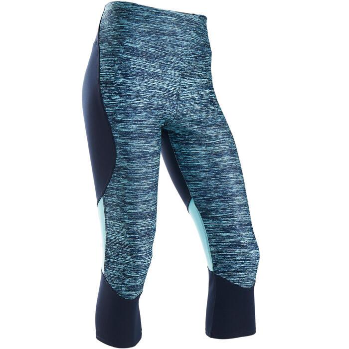Gymkuitbroek voor meisjes S500 synthetisch ademend blauw AOP
