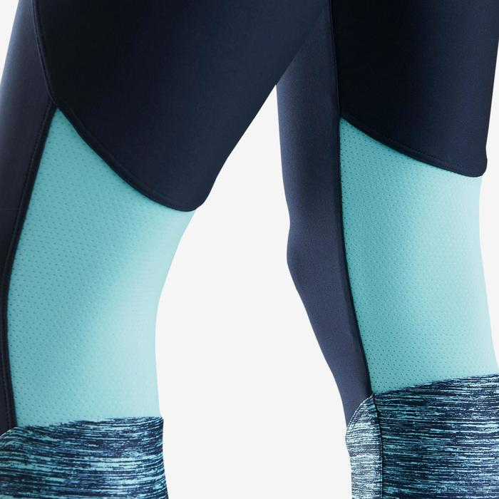 Ademende synthetische gymlegging voor meisjes S500 blauw