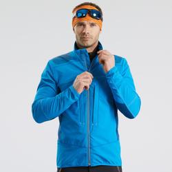 Softshell jas voor sneeuwwandelen heren SH900 Warm blauw