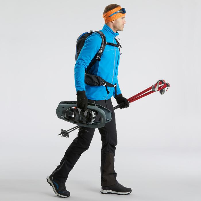 SH900男款冬季保暖雪地健行軟殼外套-藍色