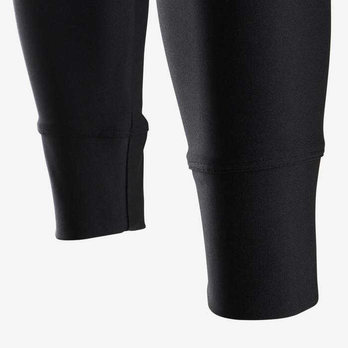 Legging synthétique respirant S500 fille GYM ENFANT noir uni