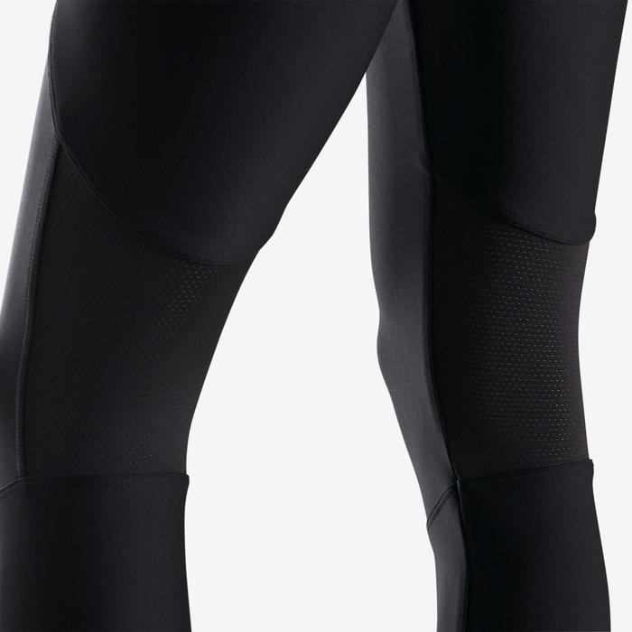Ademende synthetische gymlegging voor meisjes S500 effen zwart