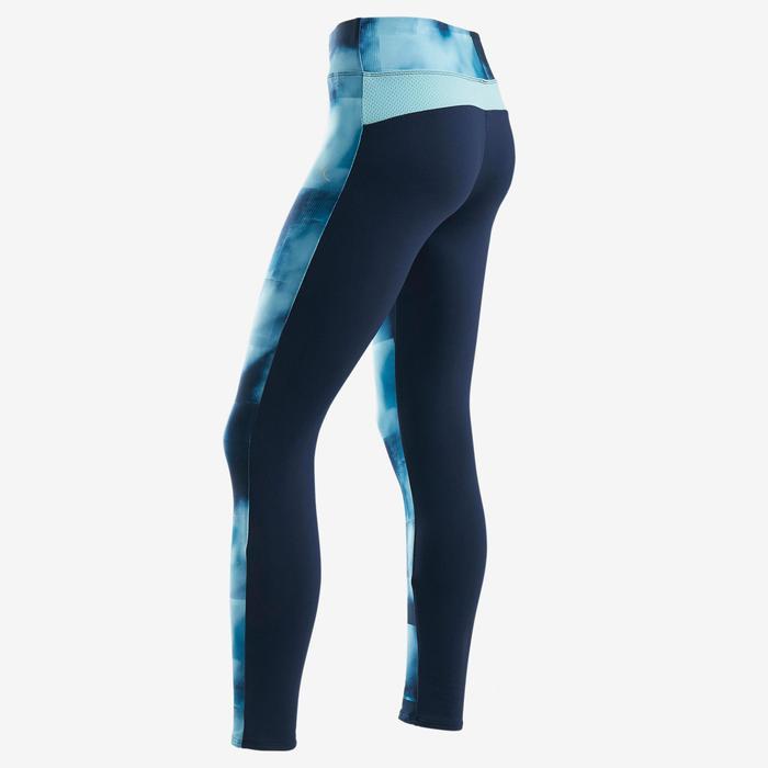 Legging chaud synthétique respirant S500 fille GYM ENFANT imprimé bleu/ marine