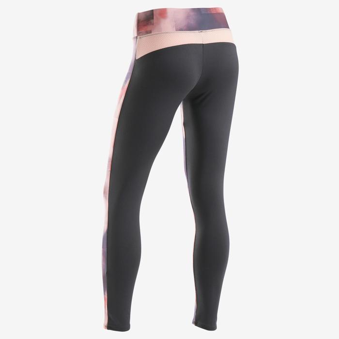 Legging chaud synthétique respirant S500 fille GYM ENFANT imprimé rose/ noir