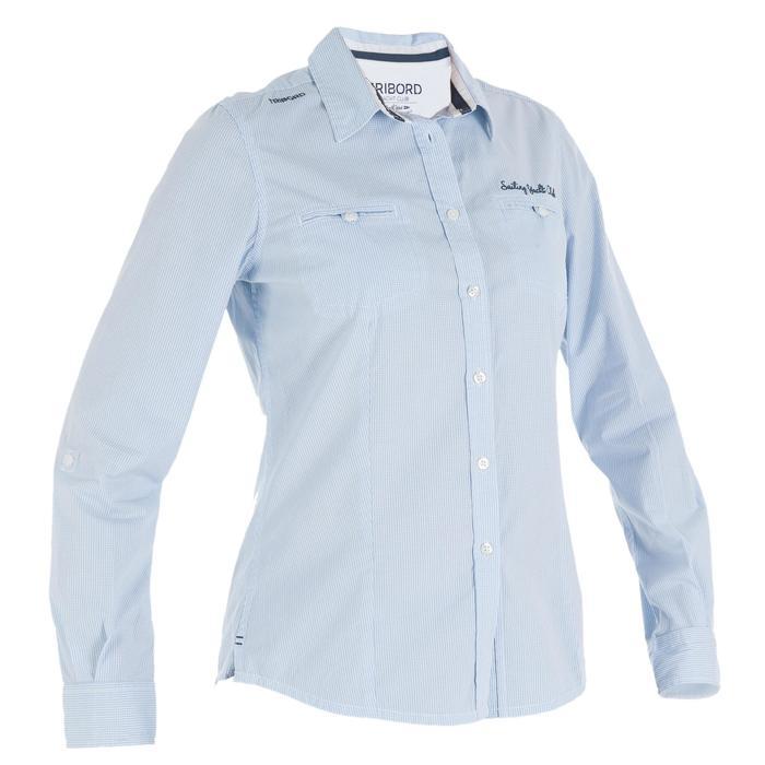 Zeilblouse 100 voor dames blauw