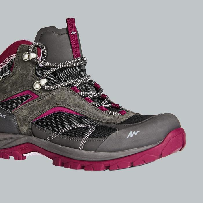 Women's waterproof mountain walking mid shoes MH100 - GNG