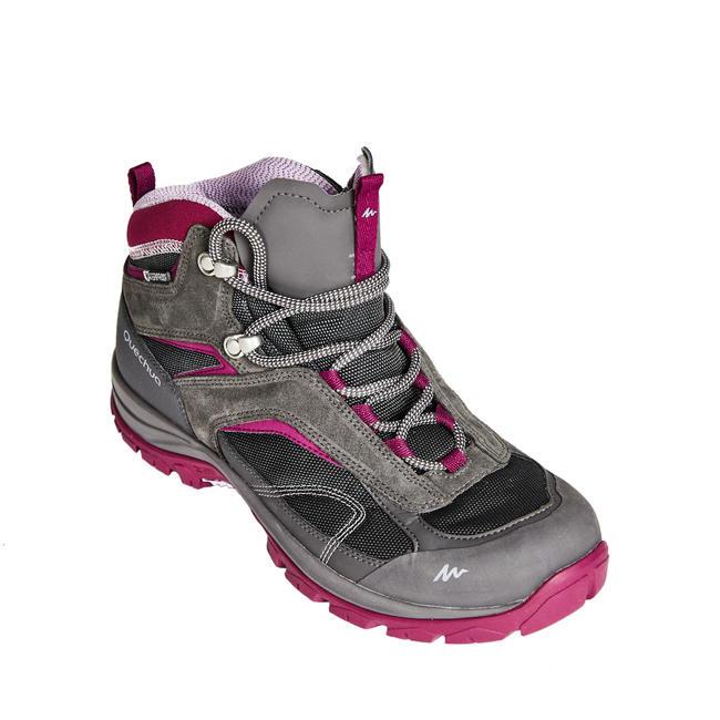 Women's waterproof mountain walking mid shoes MH100 - GNG