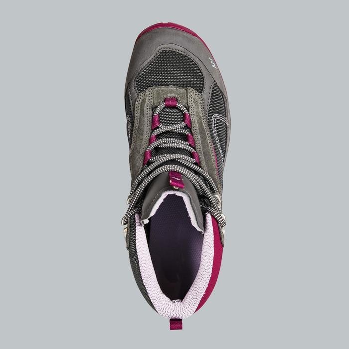 女款中筒防水登山健行鞋MH100