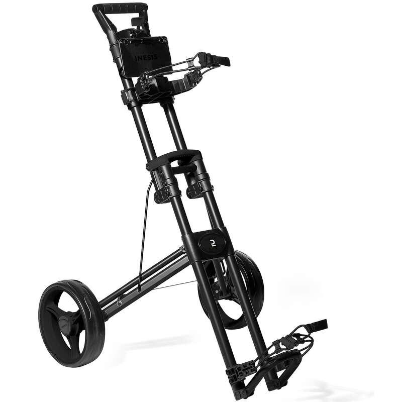 Kocsi golfhoz Golf - Kompact 2 kerekű golfkocsi INESIS - Golftáska, golf trolley