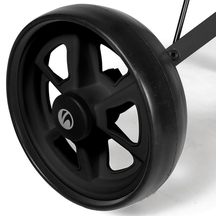 Tweewiel golftrolley voor kinderen zwart