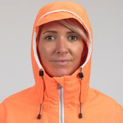 Segeljacke wasserdicht Sailing 100 Damen neonrosa