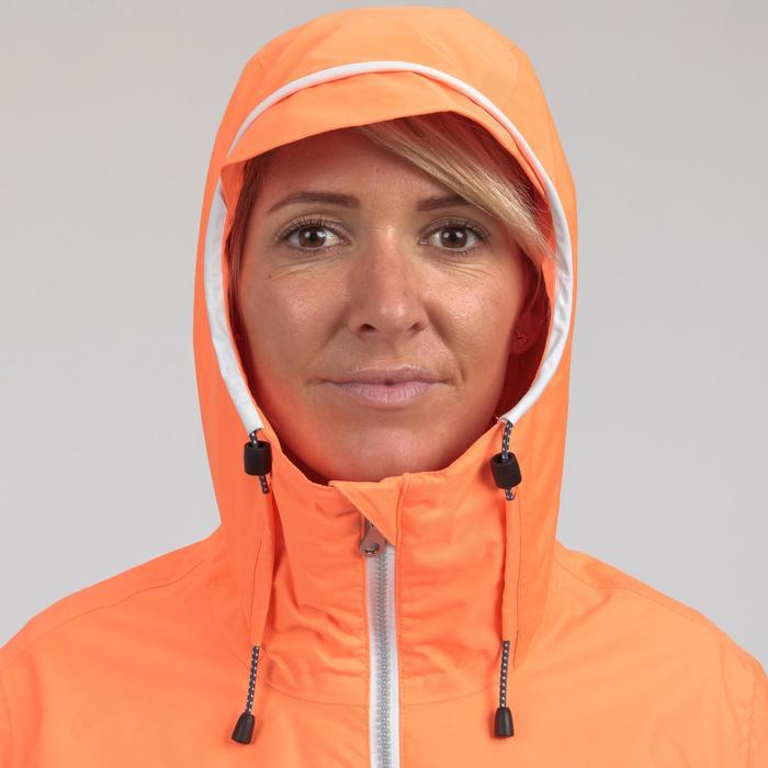 Veste imperméable de voile femme SAILING 100 Corail fluo