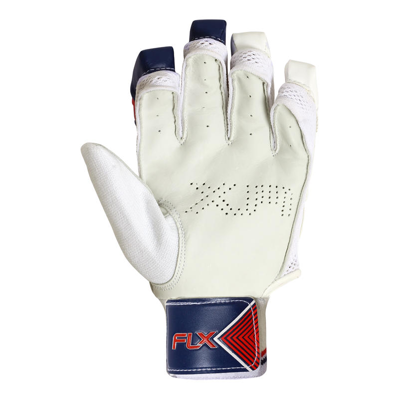 JUNIORS CRICKET BATTING GLOVES GL 100 RED, SAFETY VALIDATED, IMPACT PROTECTION