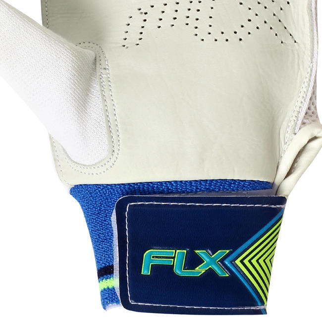 KID'S SAFETY TESTED IMPACT PROTECTION CRICKET BATTING GLOVES GL100, RH FLOU