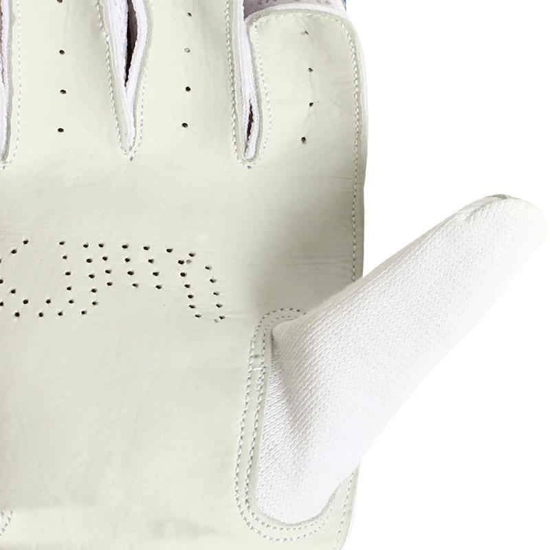 JUNIORS CRICKET BATTING GLOVES GL 100 BLUE, SAFETY VALIDATED, IMPACT PROTECTION