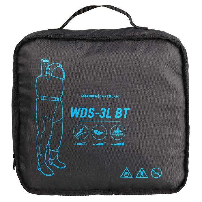Vadeador transpirable de pesca con bota WDS-3L