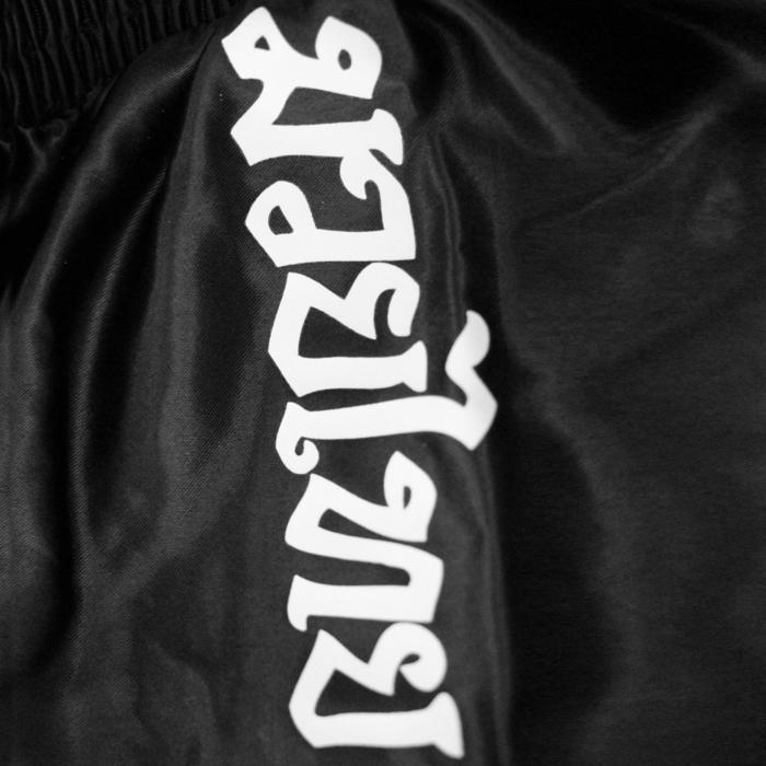Boksshort thaiboksen zwart/wit