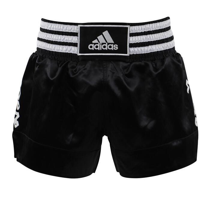 Shorts Thaiboxen schwarz/weiß