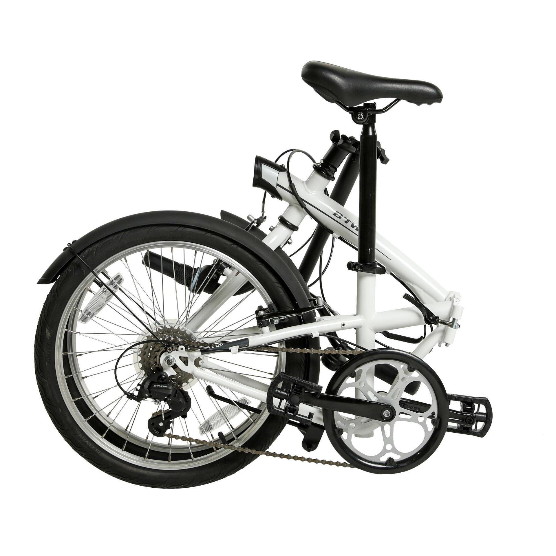 摺疊自行車TILT 120 - 白色