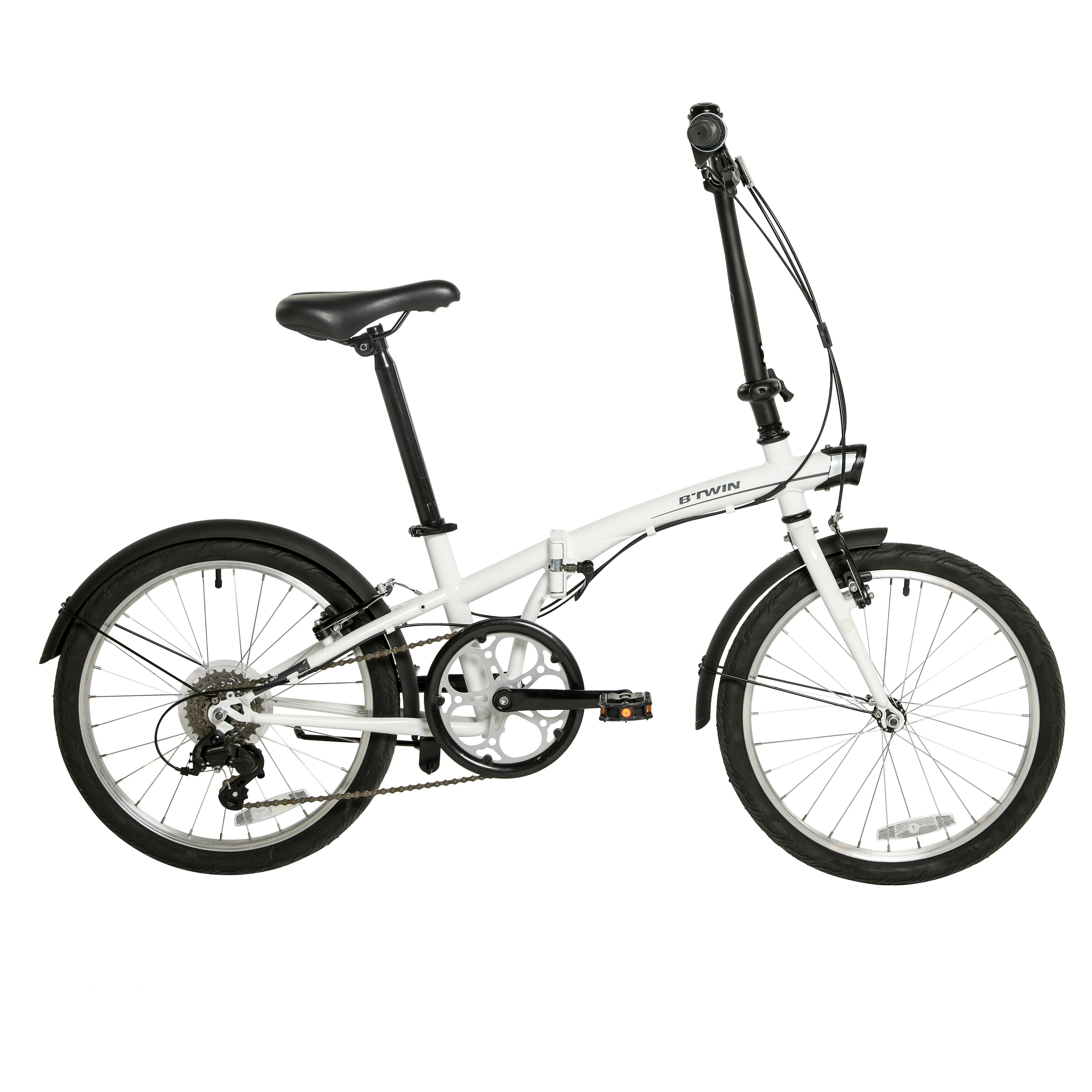 Folding bikes are smaller and easier to store at home or use for transportation
