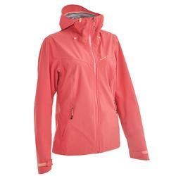 女性登山健行防水外套MH500-粉紅醋栗色