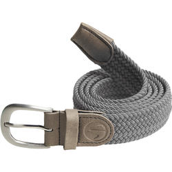 Grey adult stretchy golf belt size 2