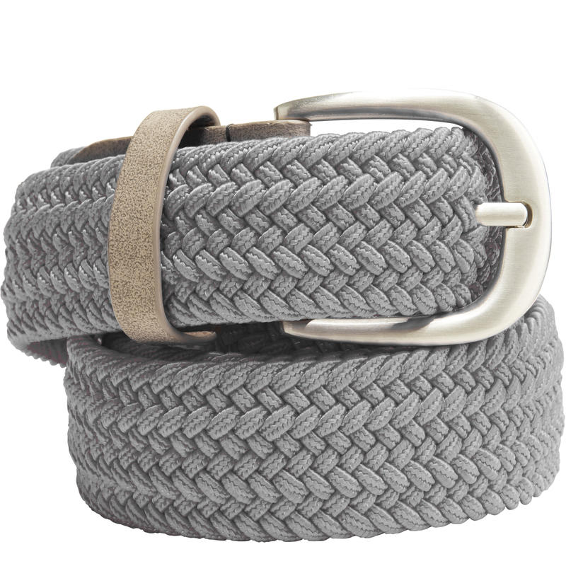 Grey adult stretchy golf belt size 2