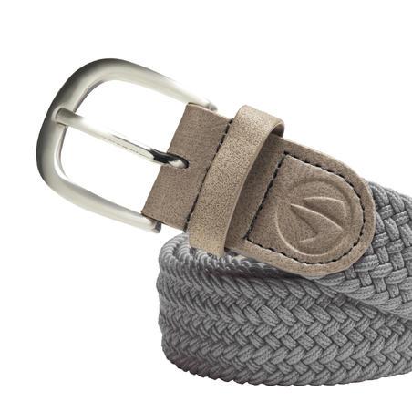 Grey adult size 1 stretchy golf belt