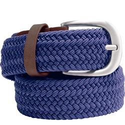 Rekbare riem voor golf volwassenen marineblauw maat 2