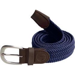 成人款彈性2號尺寸皮帶-軍藍色