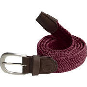 Burgundy adult stretchy golf belt size 2