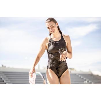 Riana Women's One-Piece Swimsuit + black