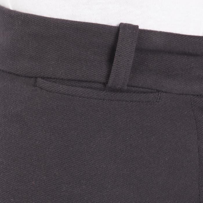 Rijbroek met synthetisch zitvlak voor kinderen 180 Fullseat zwart en grijs