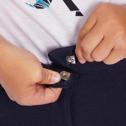 Rijbroek met kunstleren zitvlak voor kinderen ruitersport 180 Fullseat blauw