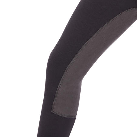 180 Fullseat Kids' Full Seat Horseback Riding Jodhpurs - Black/Grey