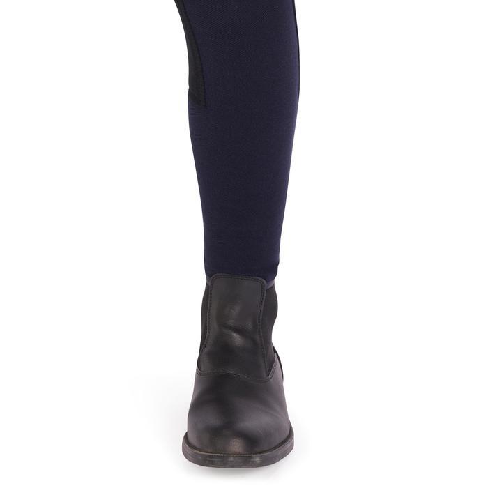 Pantalon fond de peau équitation enfant 180 FULLSEAT marine