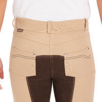 180 Fullseat Kids' Full Seat Horseback Riding Jodhpurs - Beige/Brown