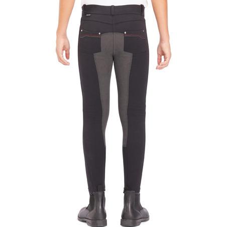 Pantalon fond de peau équitation enfant 180 Fullseat noir gris