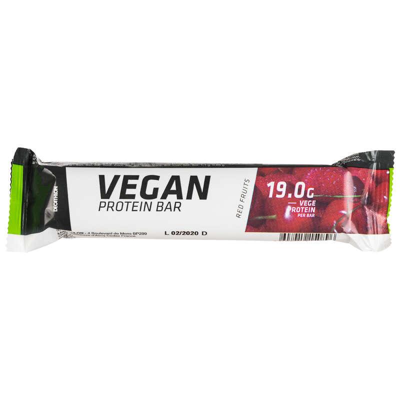PROTEINE ȘI SUPLIMENTE ALIMENTARE Fitness Cardio, Bodybuilding, Crosstraining, Pilates - Baton proteine VEGAN fructe DOMYOS - Proteine si suplimente alimentare