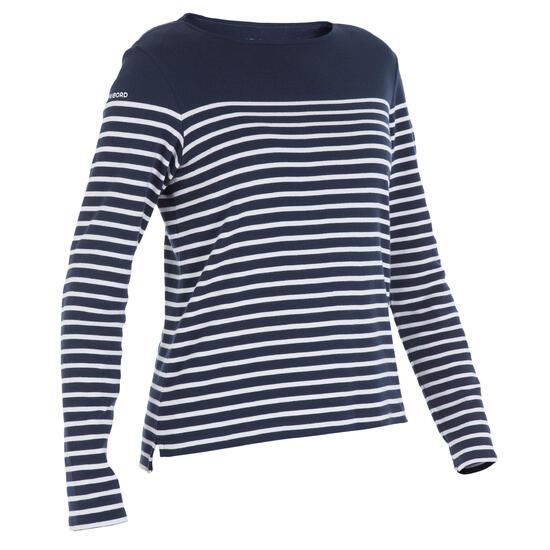 Zeilshirt met lange mouwen 100 voor dames - 165673