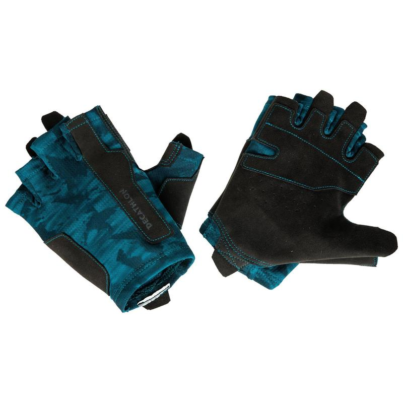Trainingshandschuhe Krafttraining blau
