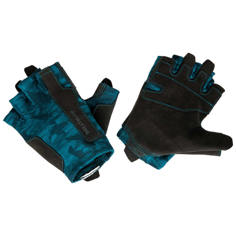 GLOVES, BELTS, APPAREL Fitness and Gym - Training Glove - Blue DOMYOS - Fitness and Gym