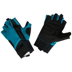 Fitness handschoenen 500 krachttraining, blauw