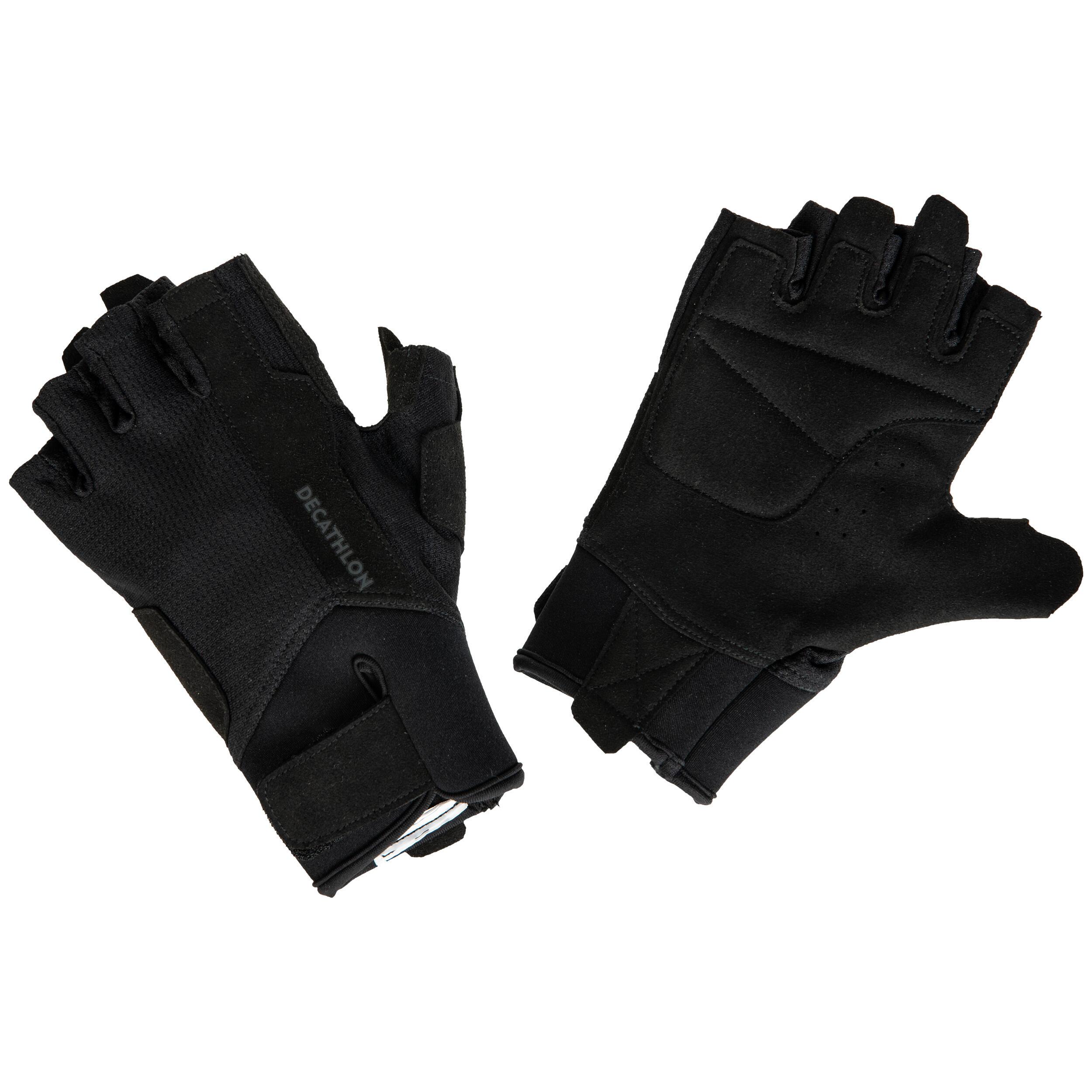 Mănuși bodybuilding 500 Negru imagine