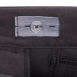 Pantalon fond de peau équitation enfant 180 FULLSEAT noir et gris